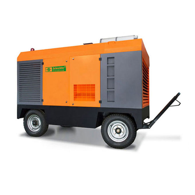 Large Capacity Portable Rotary Screw Air Compressor 132KW 17m³/Min Low Oil Content